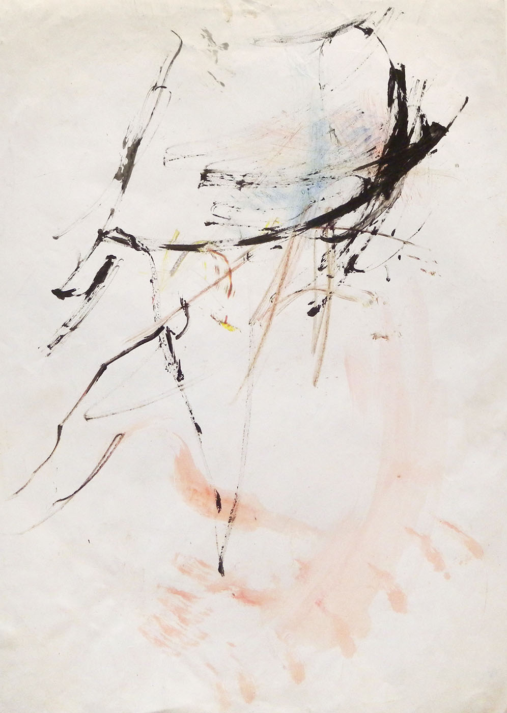 MARC FELD 2011 ENFANCE Gouache sur papier 44 x 63 cm