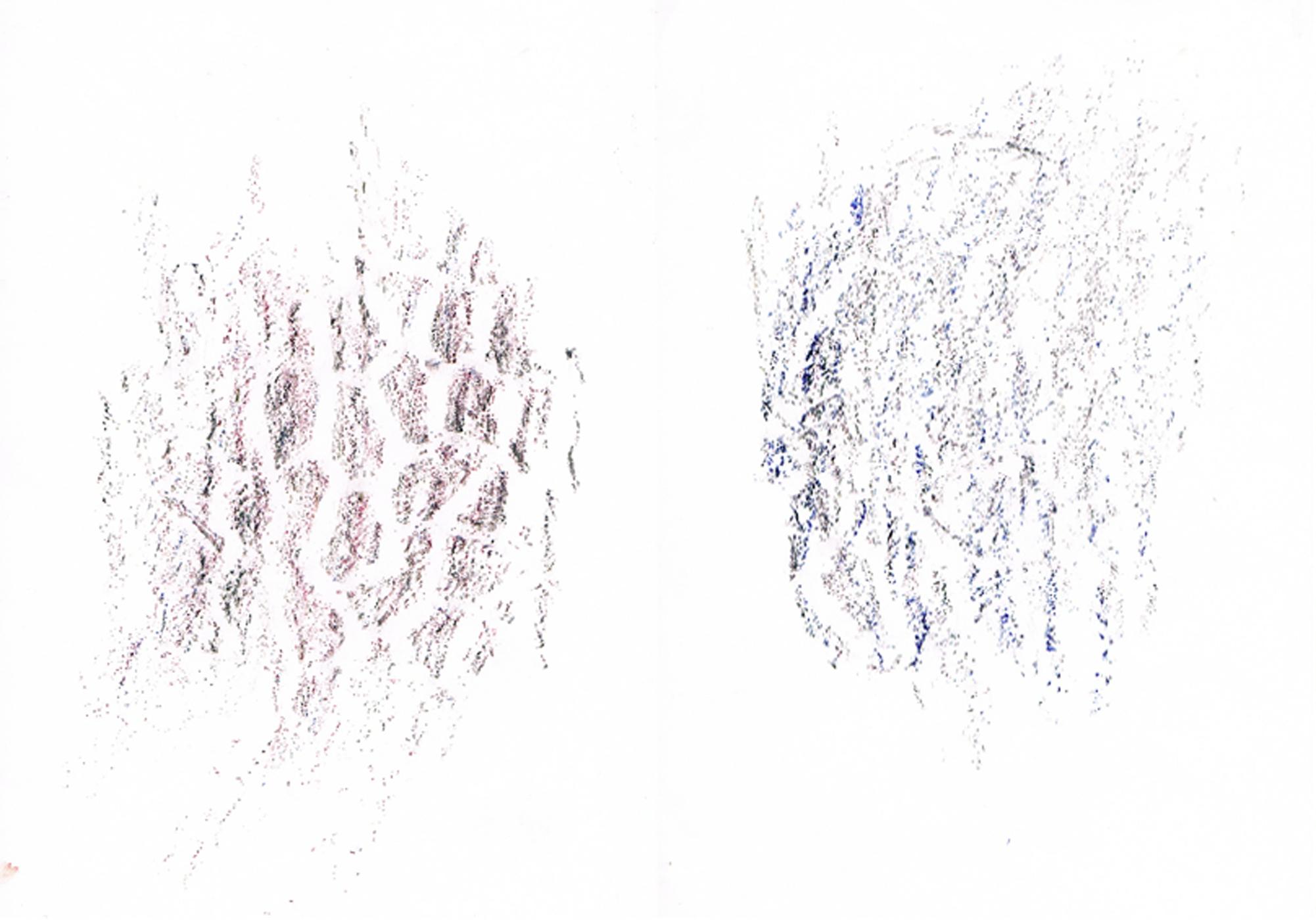 MARC FELD 2016 SOMETHING Pigments sur papier  42 x 30 cm