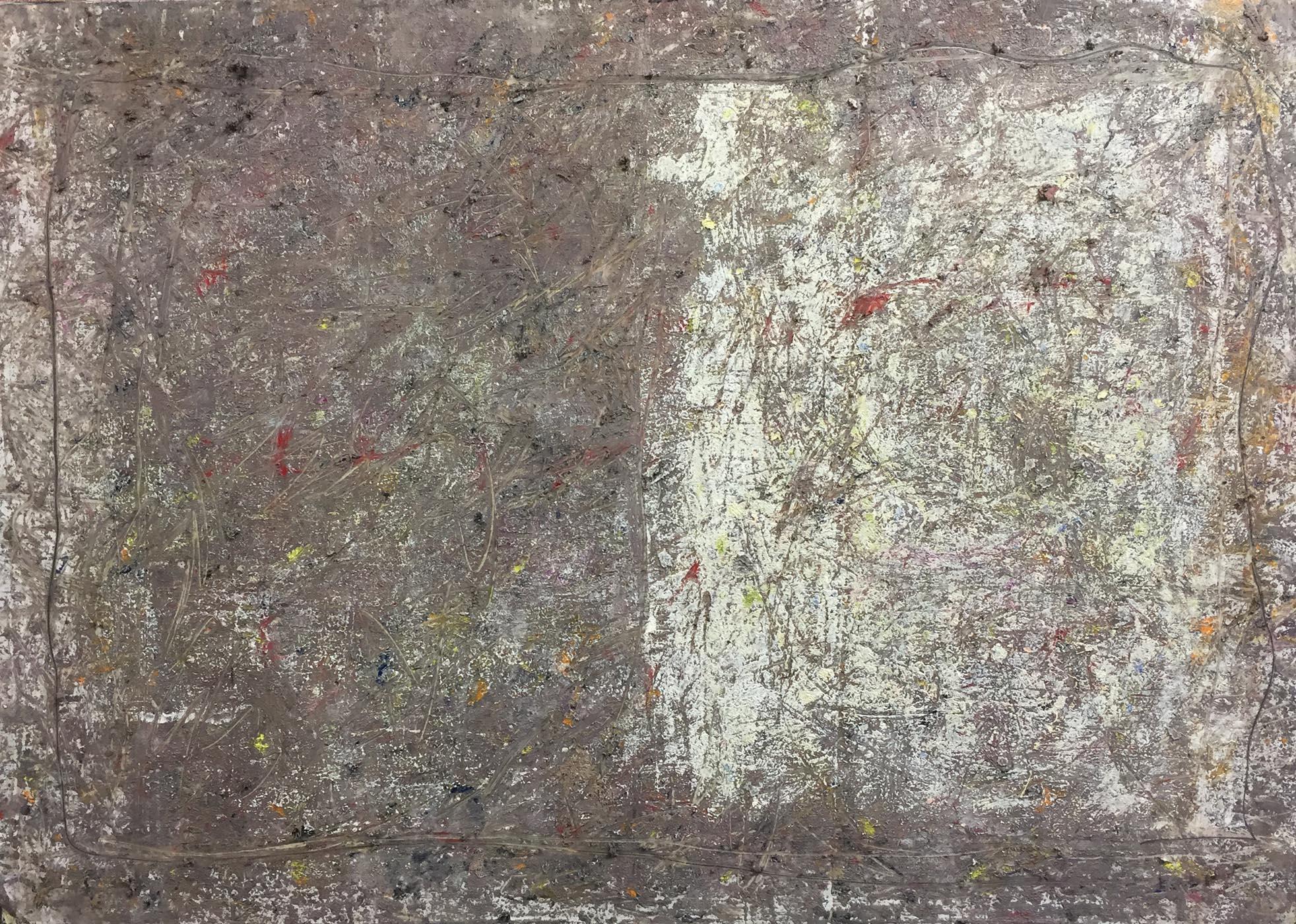 MARC FELD 2019 RUINS AND GLIMMERS Huile, acrylique et mine de plomb sur papier 112 x 80 cm
