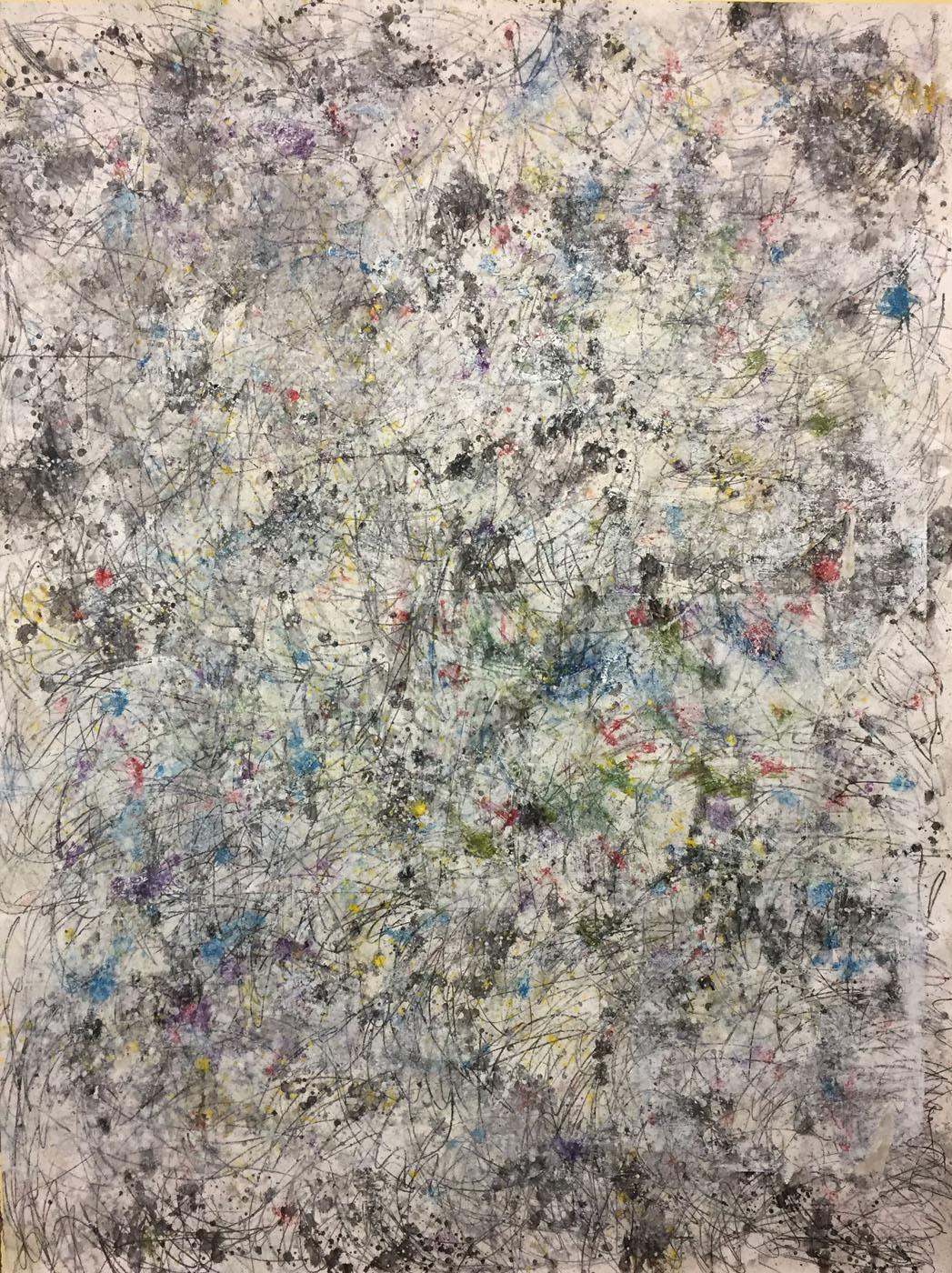 MARC FELD 2019 ÉCHO DES ÉTOILES 2 Huile, gouache et mine de plomb sur papier150 x 200 cm