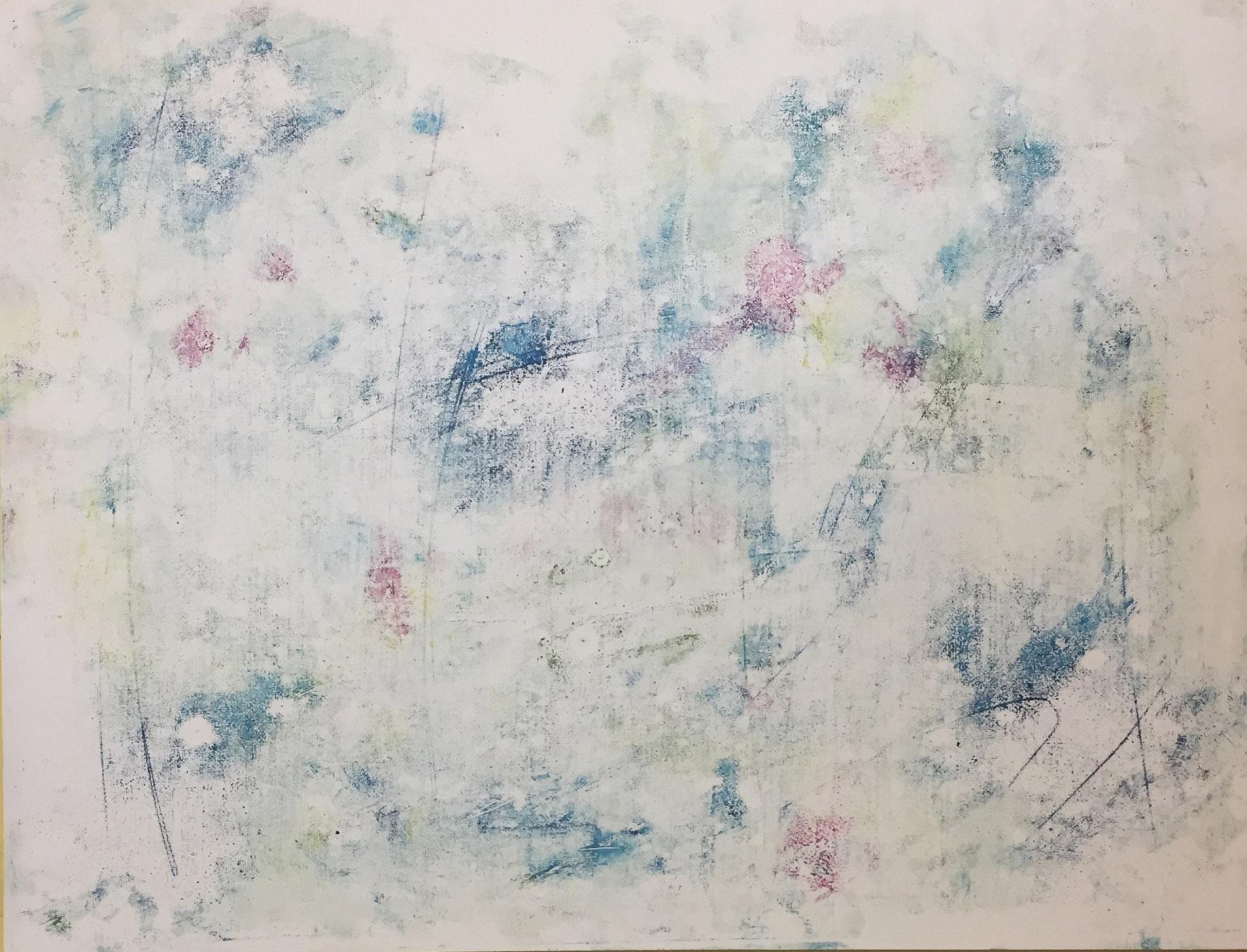 MARC FELD 2019 BIRDSONG FOR MESSIAEN 1 Huile sur papier 50 x 65 cm