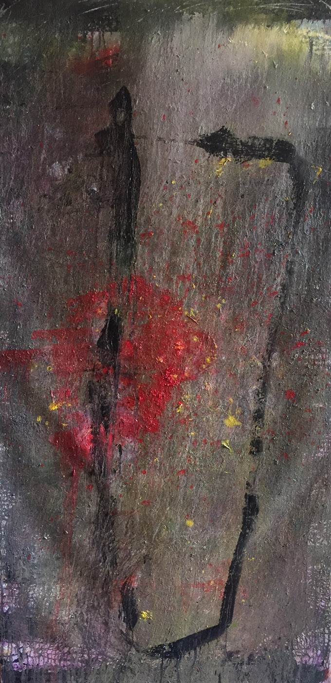 MARC FELD 2019 TANGO Huile et acrylique sur toile 180 x 85 cm