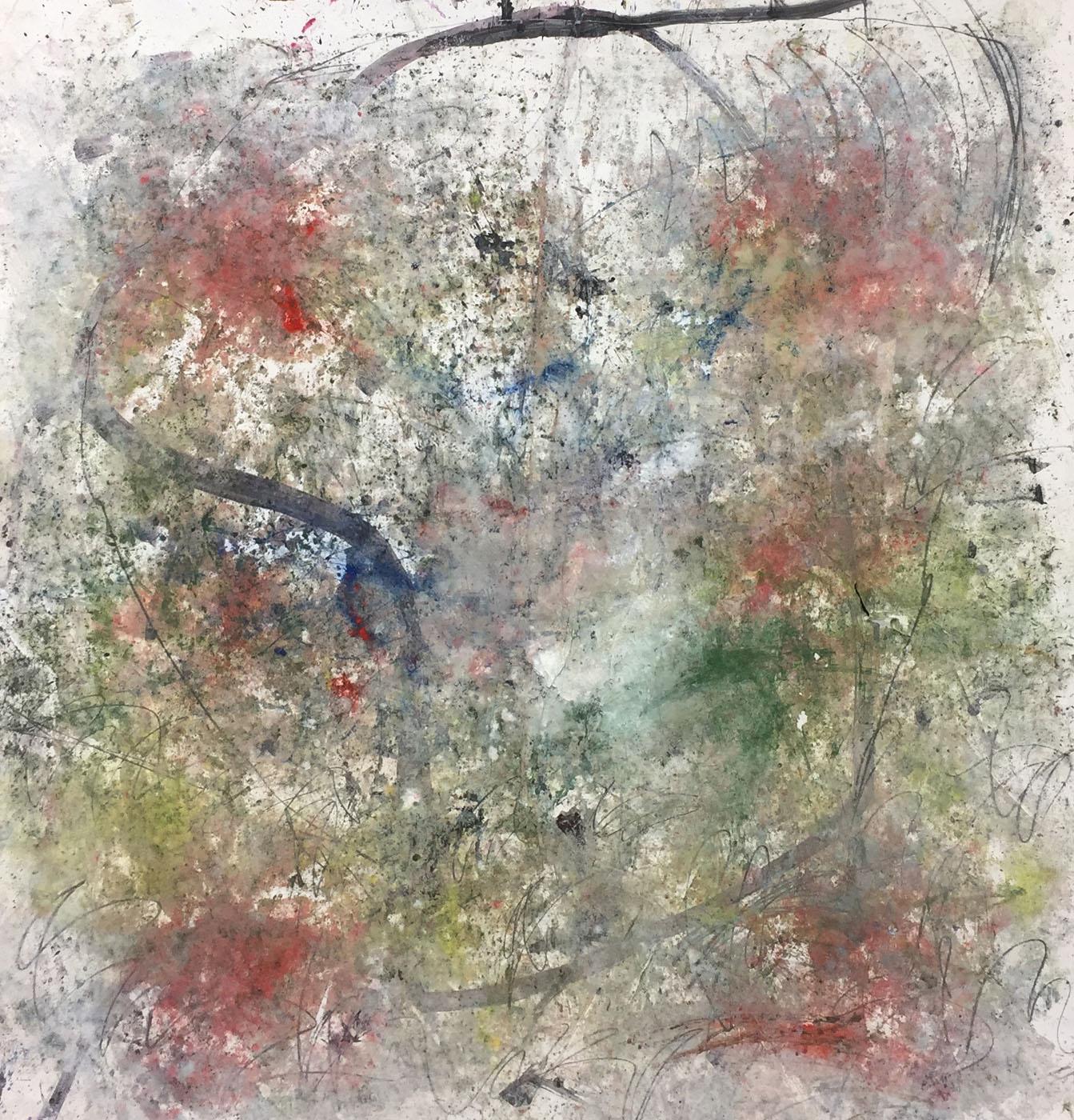 MARC FELD 2019 HAMLET Huile, acrylique, gouache, pigment et mine de plomb sur papier 150 x 165 cm