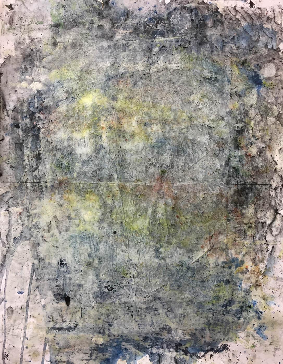 MARC FELD 2019 MEMORY TREE 3 Gouache, acrylique et pigment sur papier 50 x 65 cm