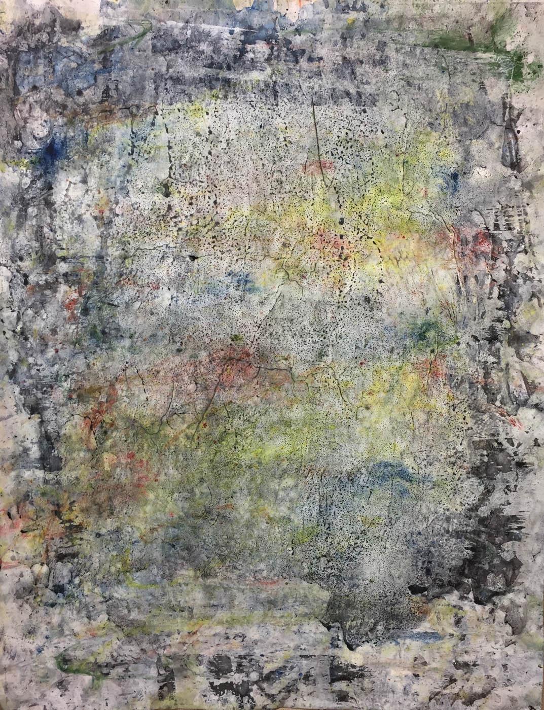 MARC FELD 2019 MEMORY TREE 5 Gouache, acrylique et pigment sur papier 50 x 65 cm