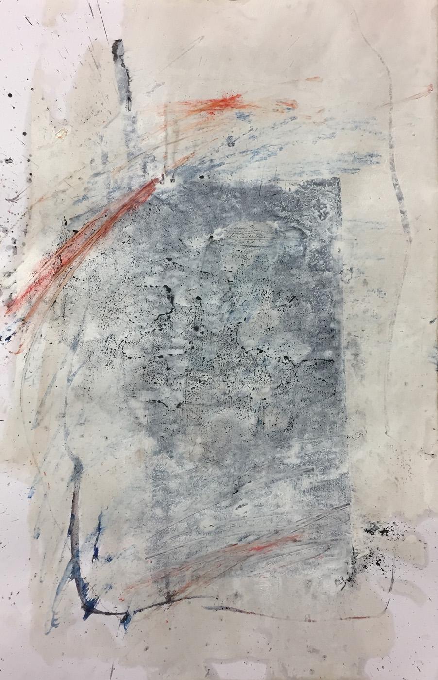 MARC FELD 2019 RUISSEAU 1 Gouache, acrylique et pigment sur papier 50 x 32 cm