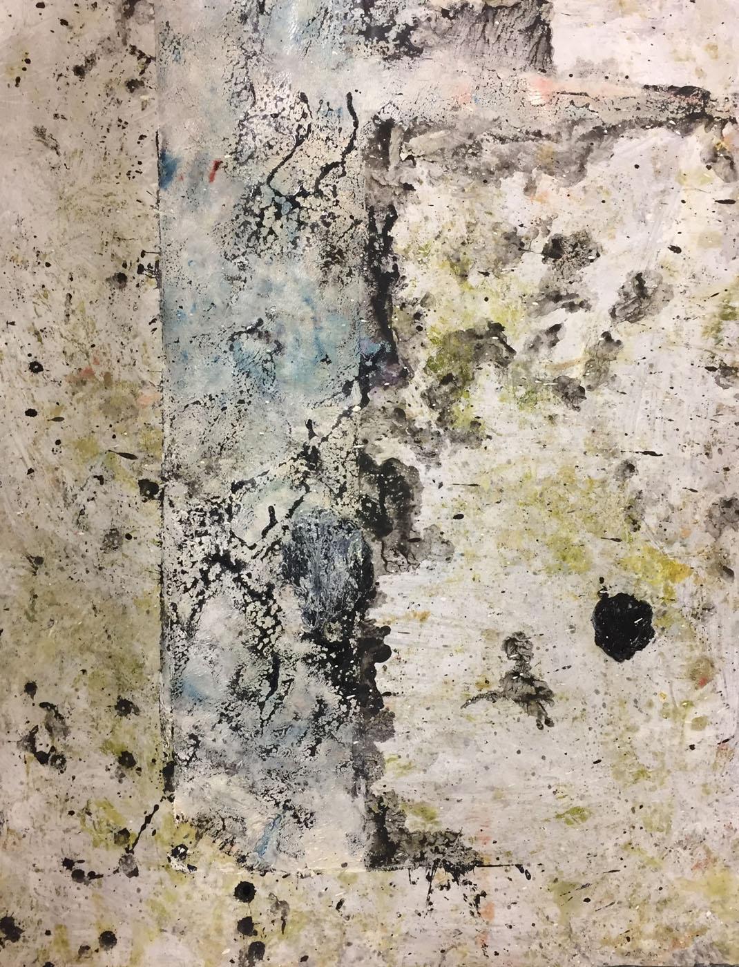 MARC FELD 2019 ARBRE Huile, pigment, acrylique et gouache sur papier 50 x 65 cm