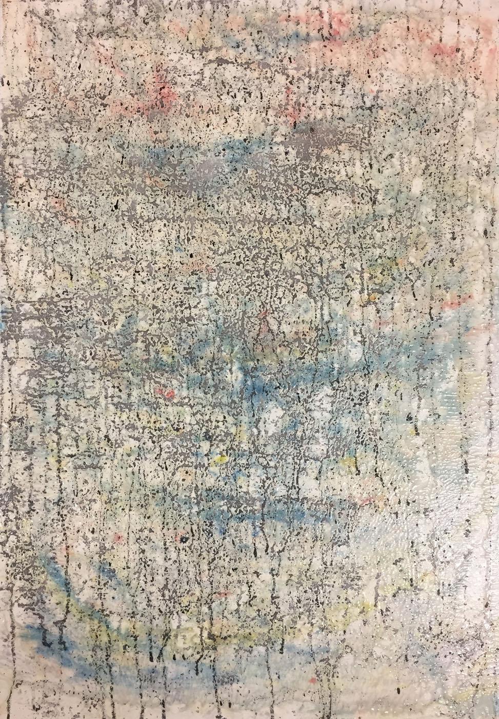 MARC FELD 2019 DÉCOHÉRENCE Huile, pigment, acrylique et gouache sur toile 46 x 56 cm