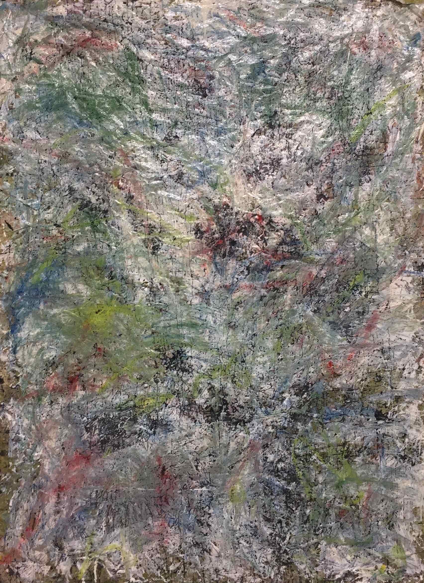 MARC FELD 2019 EMBRASEMENT DE LA NEIGE Huile, pigment, acrylique et gouache sur papier 116 x 158 cm