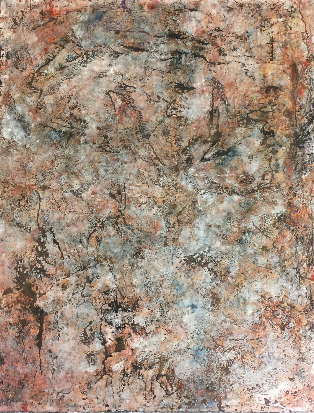 MARC FELD 2019 LASCAUX ÉCHOS Huile, pigments, acrylique et gouache sur bois 77 x 97 cm