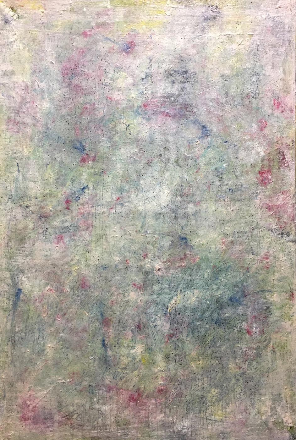 MARC FELD 2019 TRACES OF JOHN 1 Huile, pigmnent, acrylique et gouache sur toile 89 x 130 cm