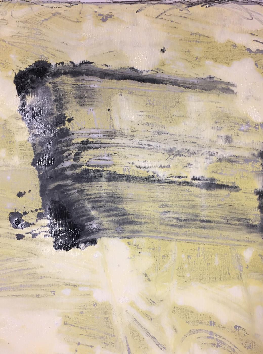 MARC FELD 2020 CARVER Huile et mine de plomb sur papier 50 x 65 cm