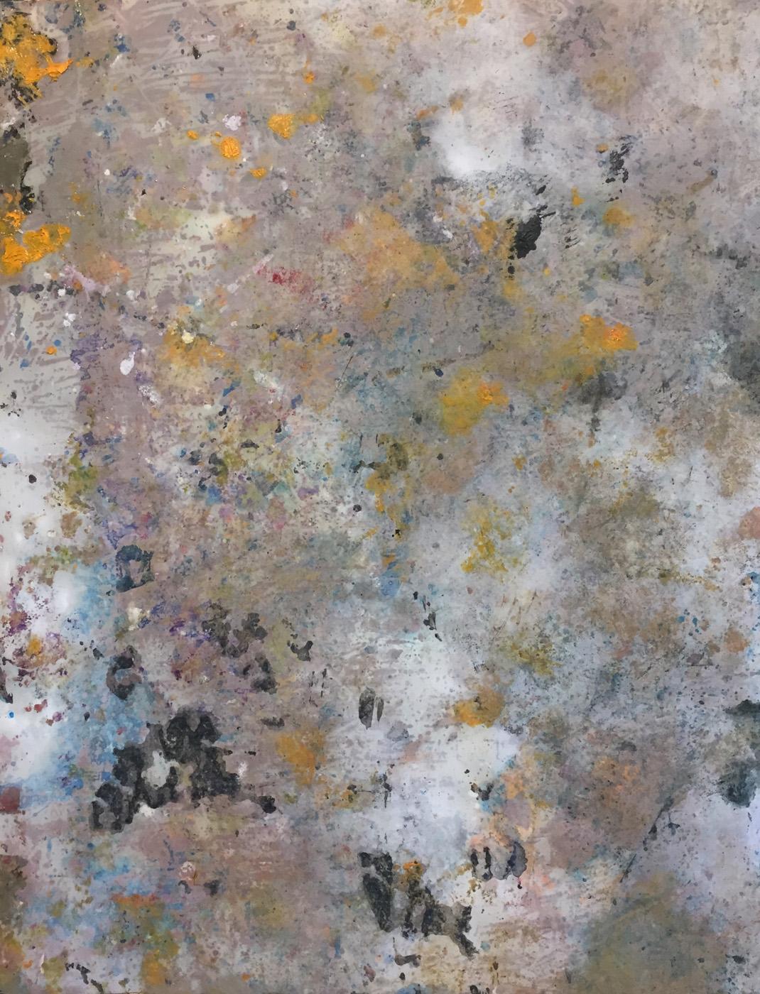 MARC FELD 2020 DISRUPTIE Huile et acrylique sur papier 50 x 65 cm