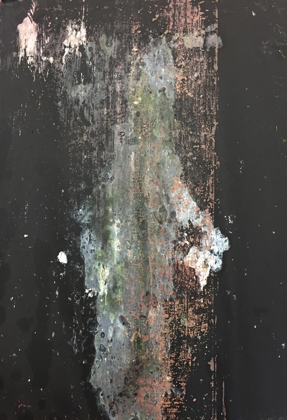 MARC FELD 2020 AIR TRUNK Huile sur papier 70 x 100 cm