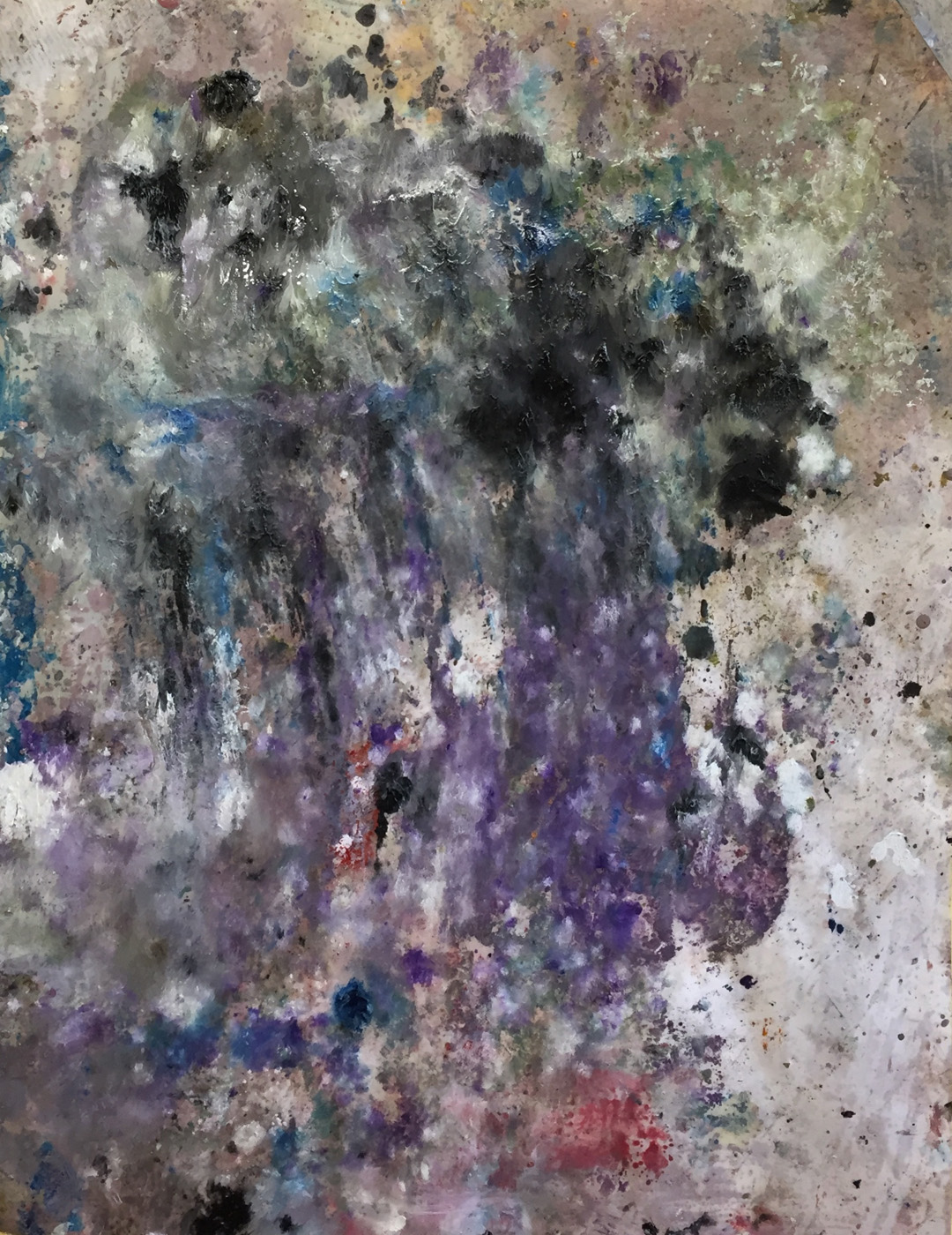 MARC FELD 2020 DÉBARQUE Huile et acrylique sur papier 50 X 65 cm