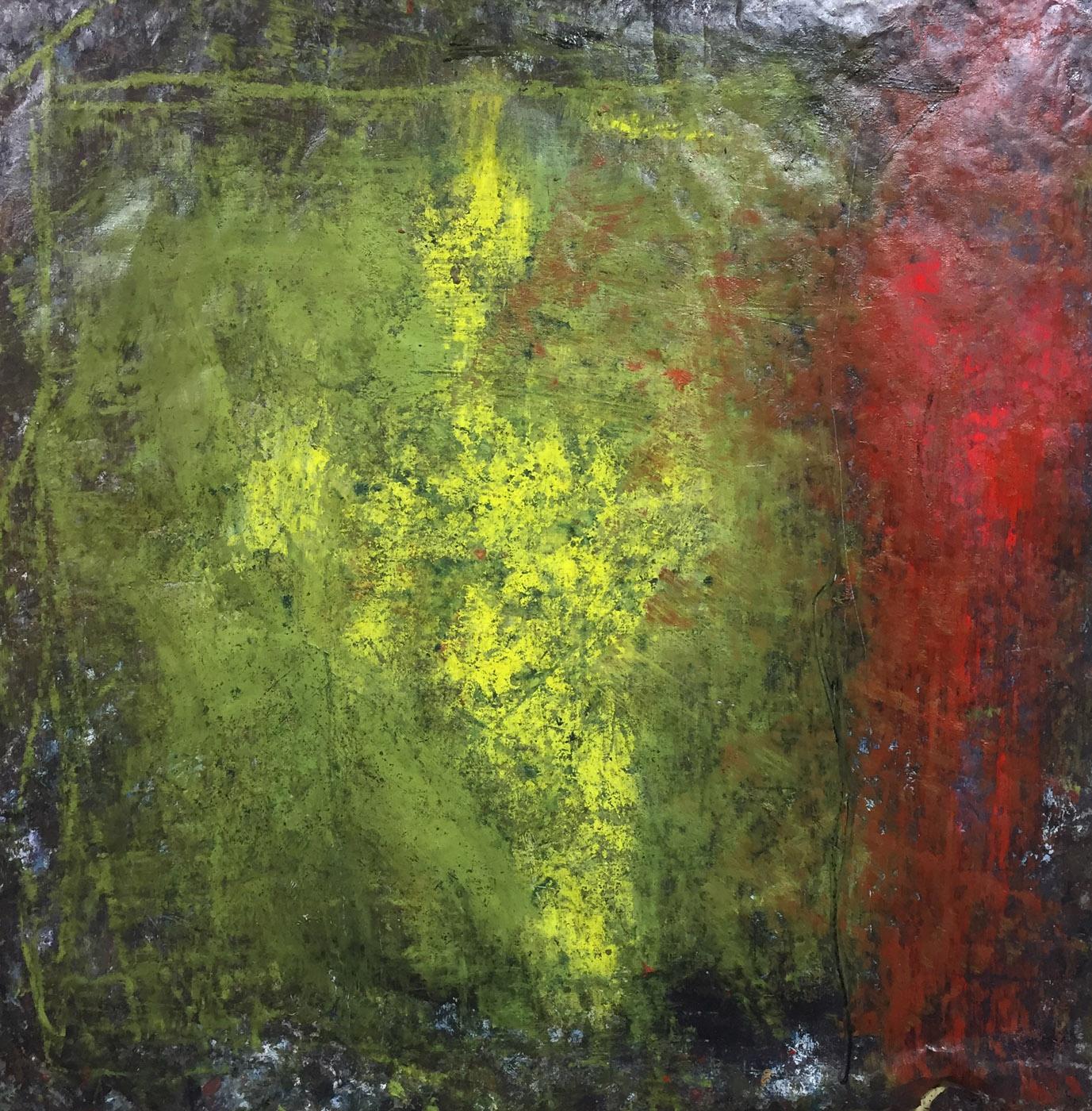 MARC FELD 2020 LIMBES Huile, pigment et acrylique sur papier 150 x 150 cm