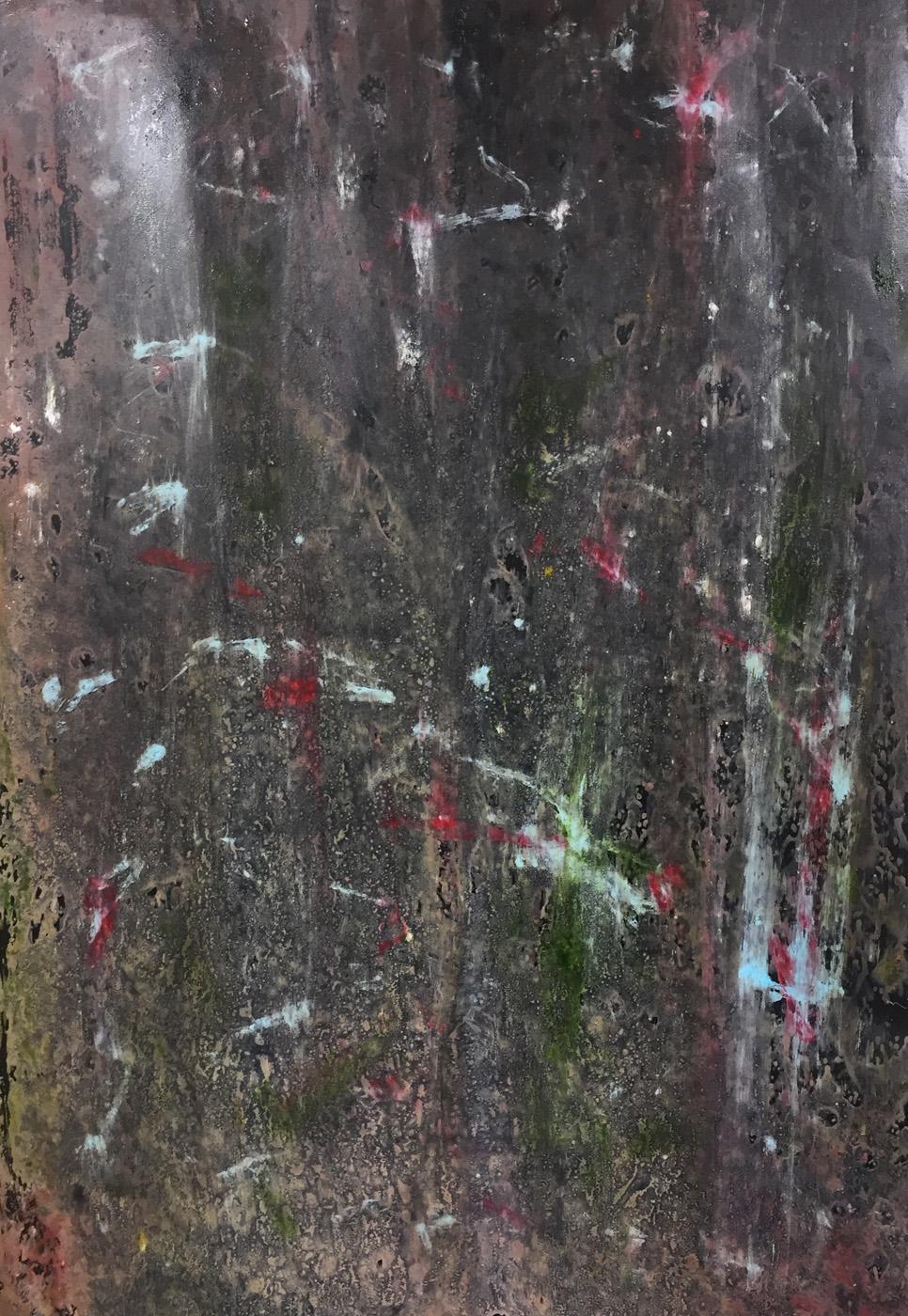 MARC FELD 2020 POSSIBILITIES 2 Huile, acrylique et pigment sur papier 70 x 130 cm