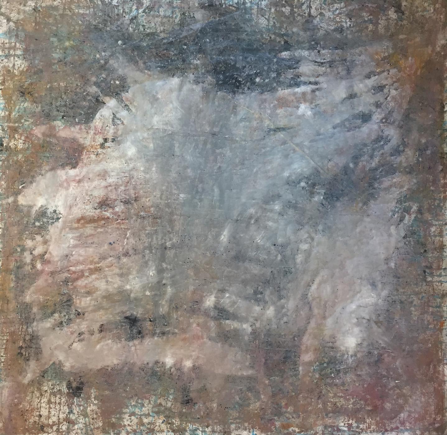 MARC FELD 2020 PRÉSENCE Huile et acrylique sur papier 150 x 150 cm
