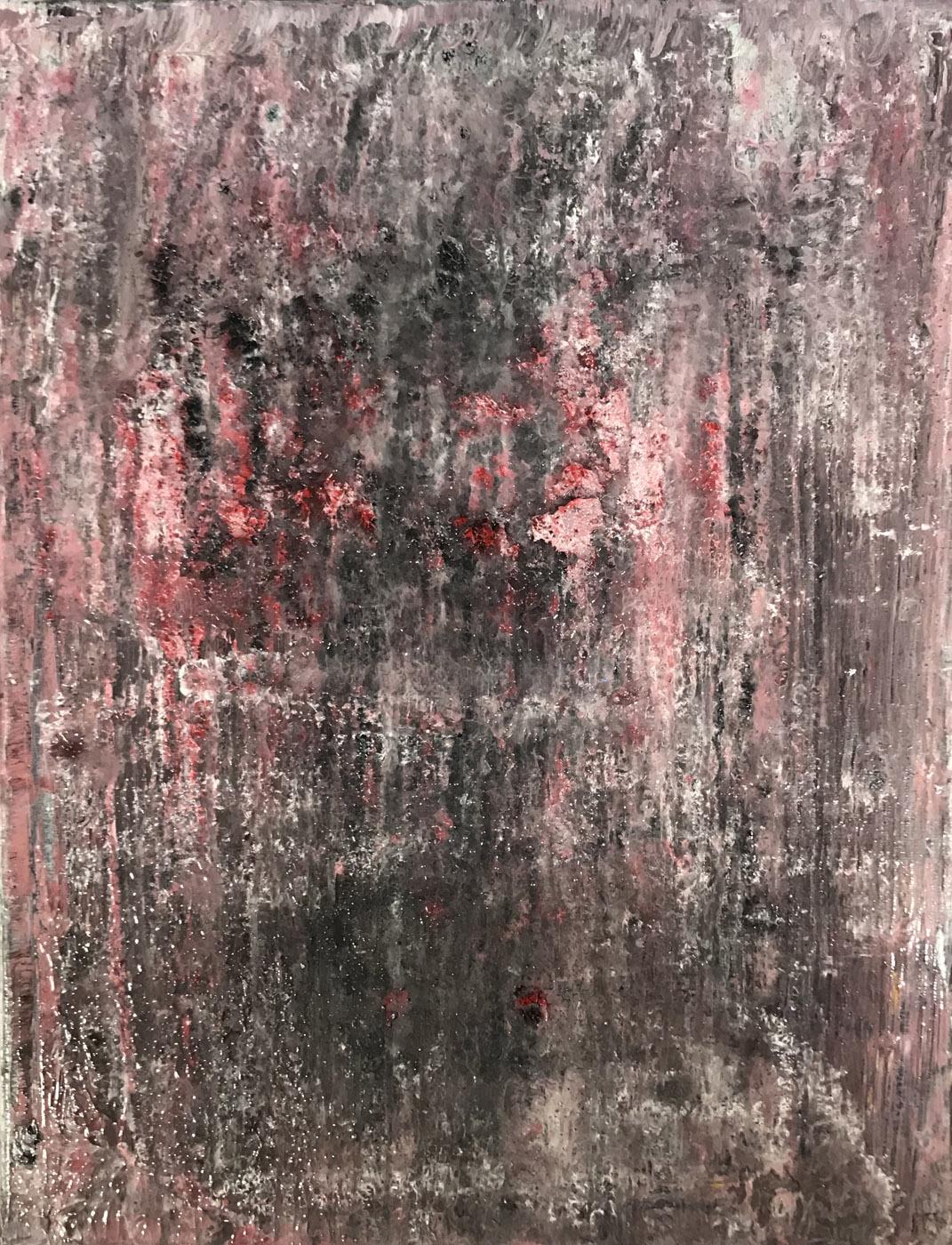 MARC FELD 2020 BRASIER 1 Huile sur papier marouflé sur toile 50 x 65 cm