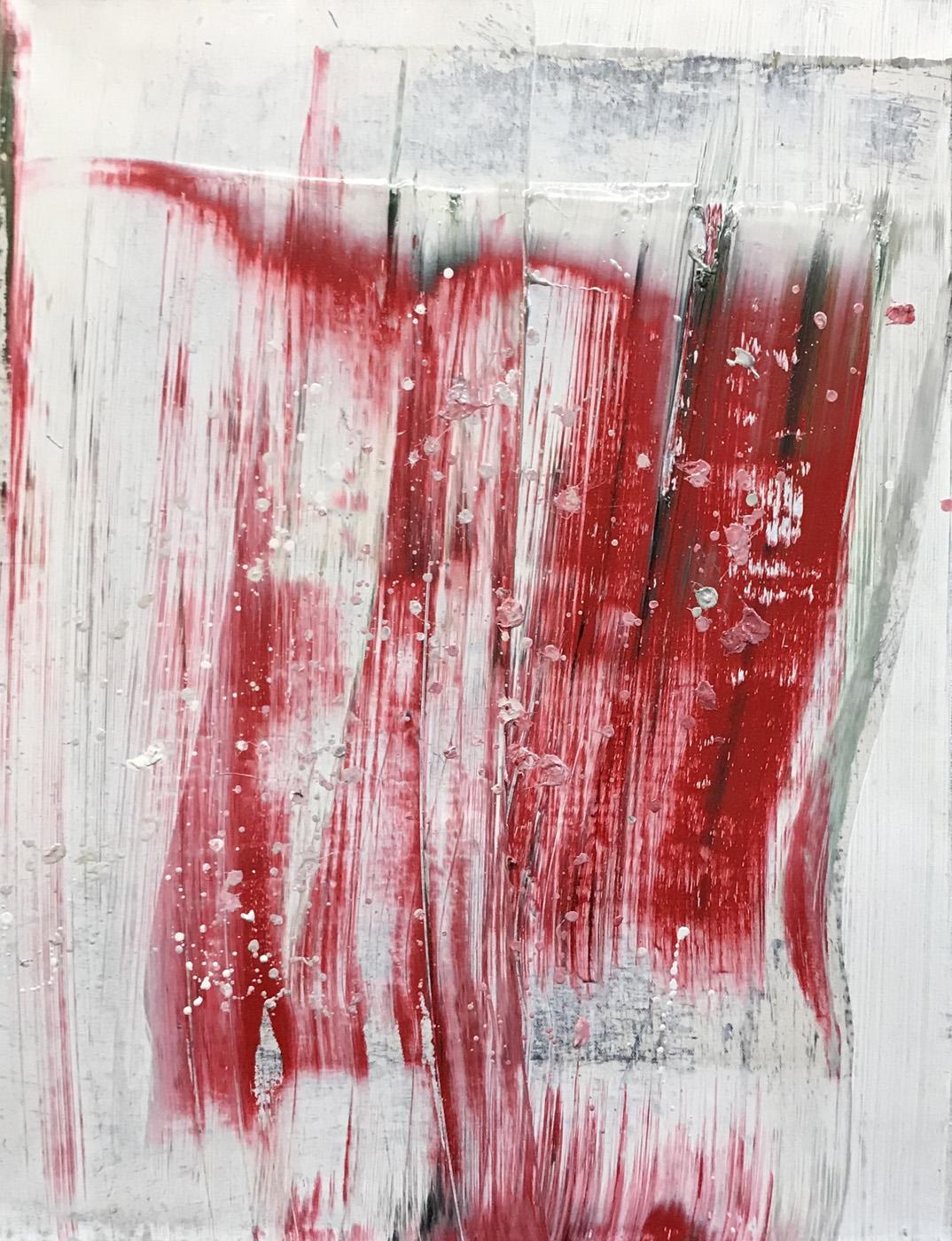 MARC FELD 2020 CORRIDA Huile sur papier marouflé sur toile 50 x 65 cm