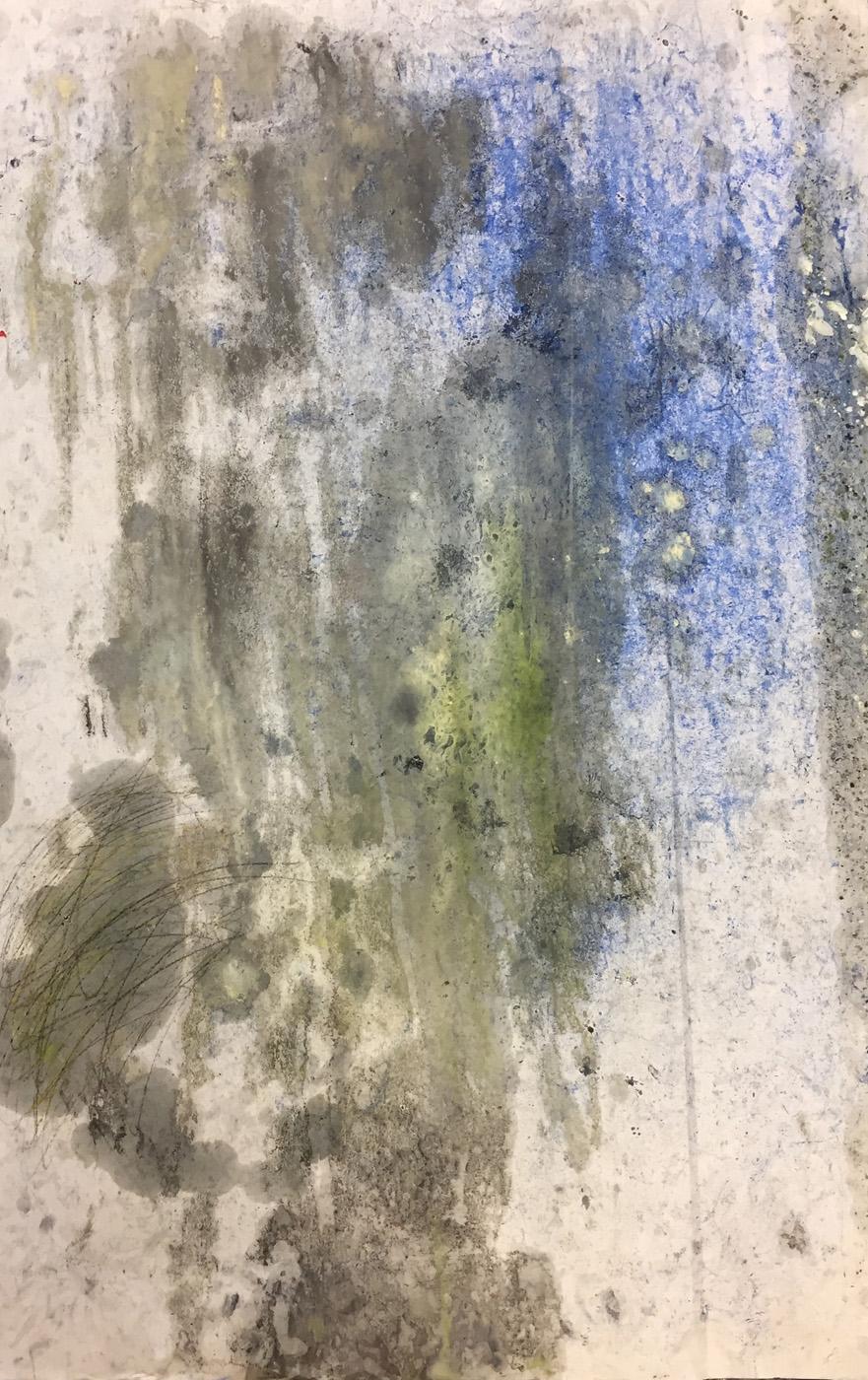 MARC FELD 2020 DISCONNECTED Huile, pigment et mine de plomb sur papier 100 x 65 cm