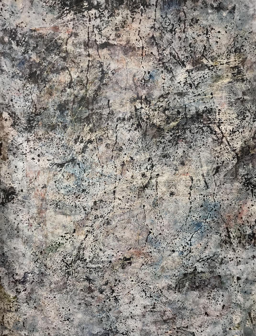 MARC FELD 2020 SUINTEMENTS Huile, acrylique et gouache sur papier 50 x 65 cm