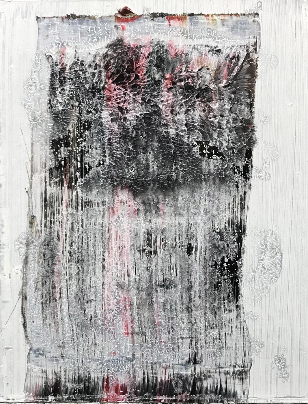 MARC FELD 2020 VACILLEMENT (pour Jacques Dupin) Huile sur papier marouflé sur toile 50 x 65 cm