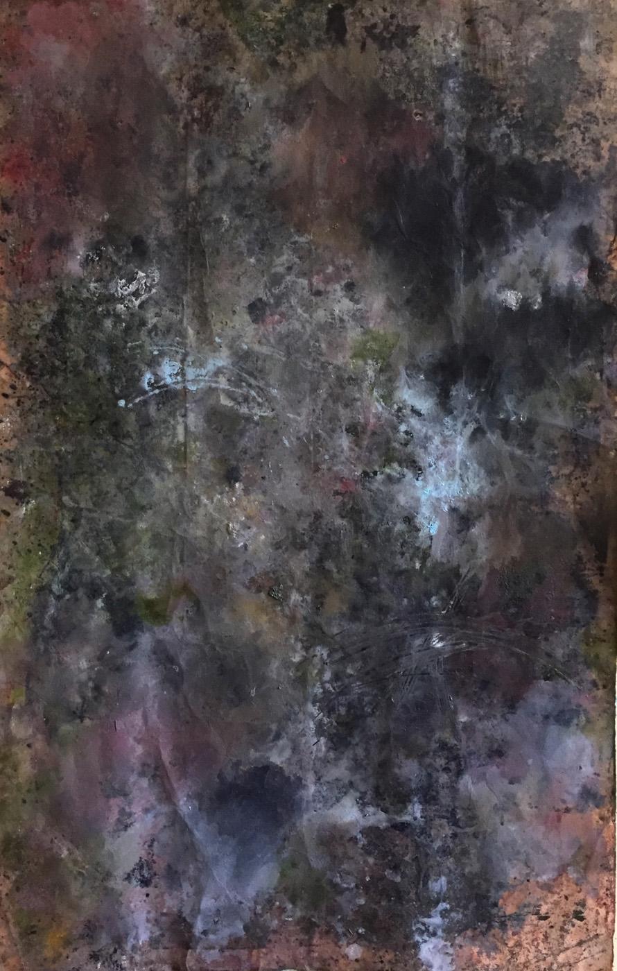 MARC FELD 2020 VULCAIN 2 Huile et acrylique sur papier 101 x 65 cm