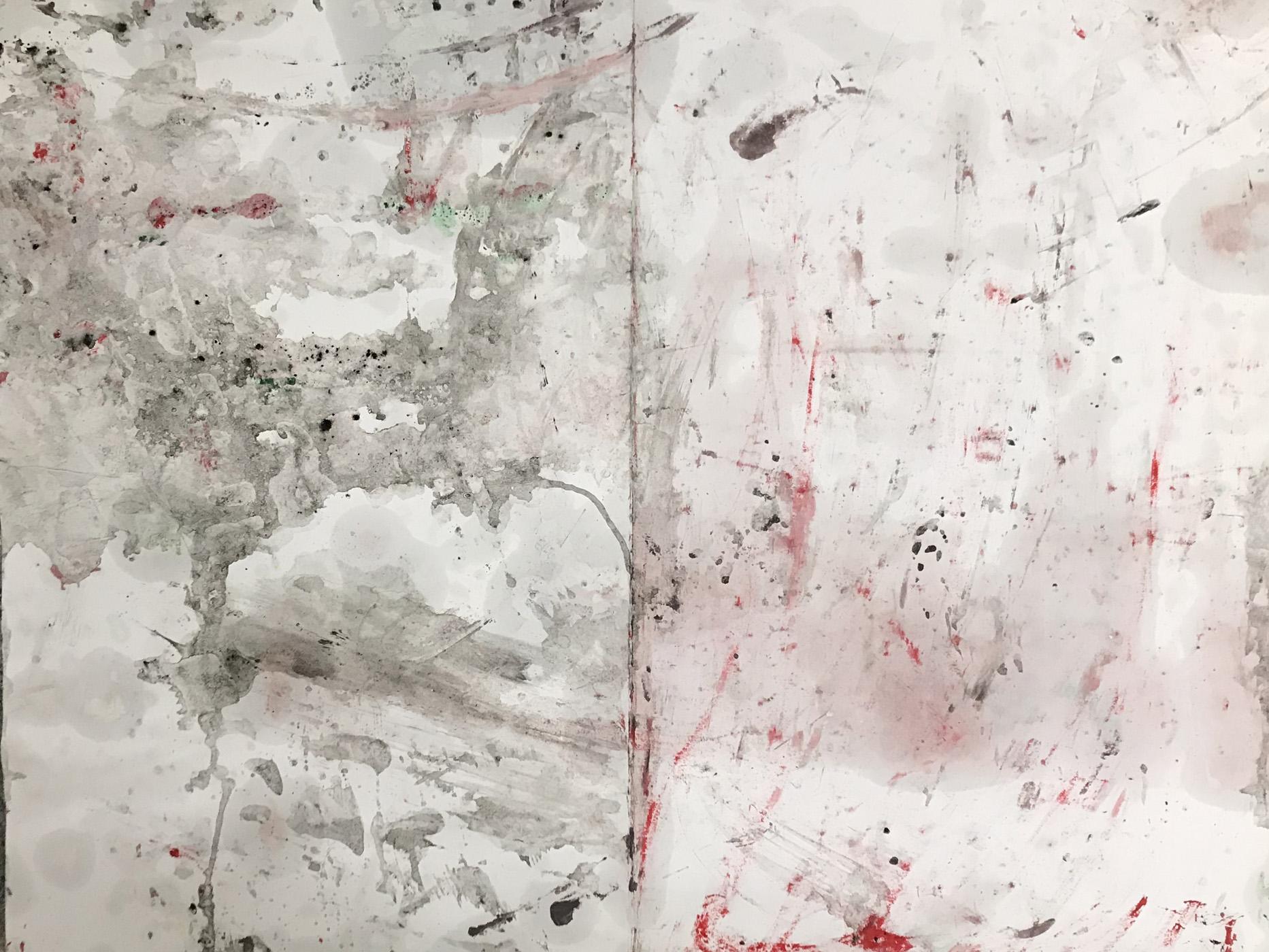 MARC FELD 2020 BALIVERNES Huile sur papier 50 x 65 cm
