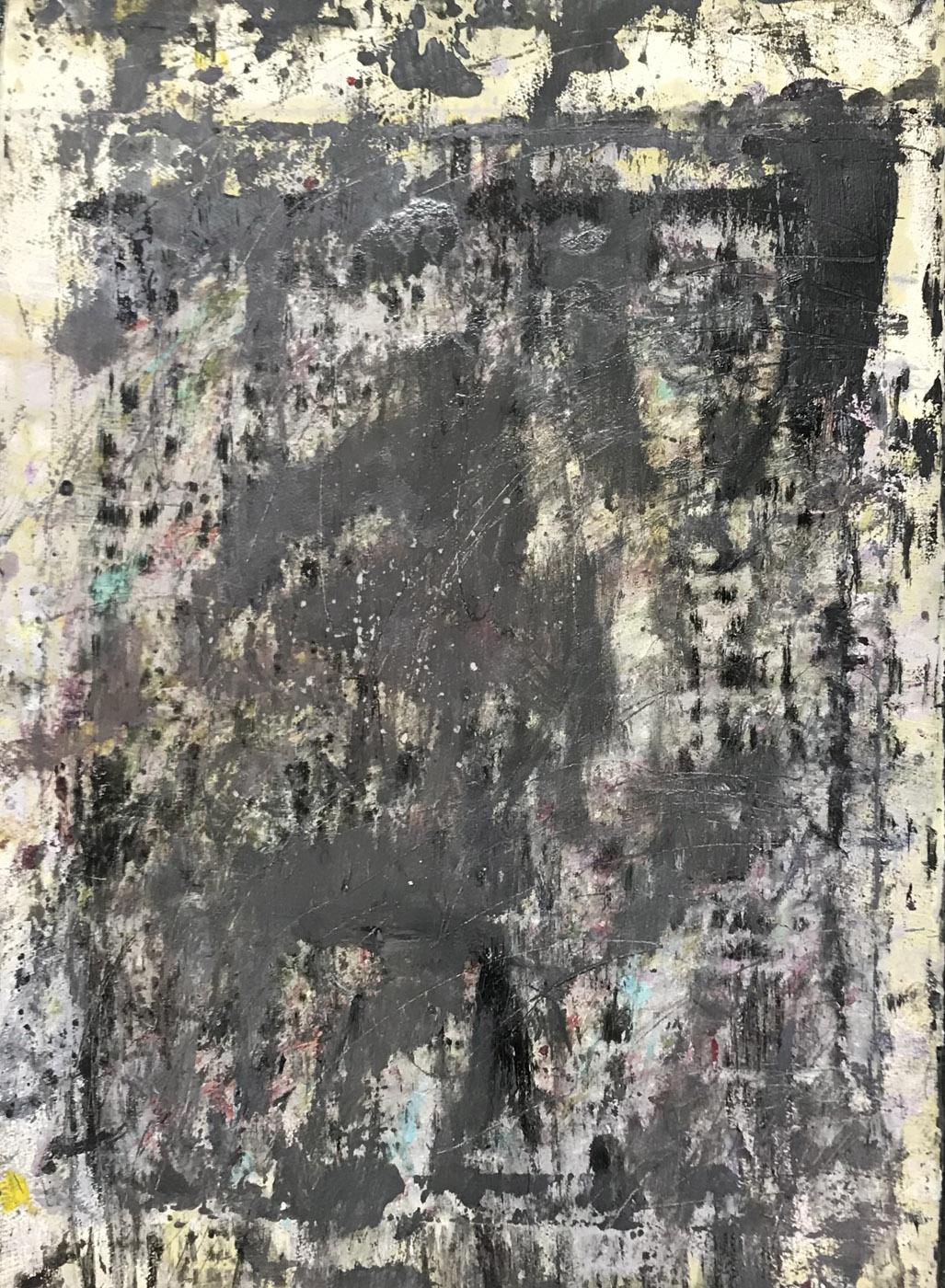 MARC FELD 2020 MENUET Huile et acrylique sur papier 56 x 76 cm