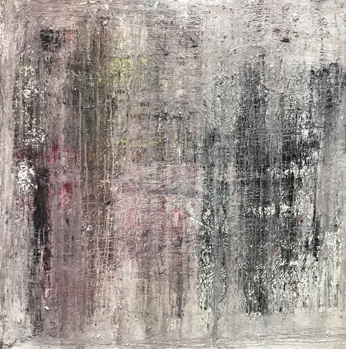 MARC FELD 2021 RATURES Huile sur toile 120 x 120 cm