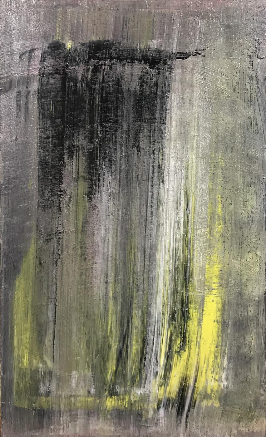 MARC FELD 2021 INTRINSÈQUE Huile et acrylique sur bois 100 x 65 cm