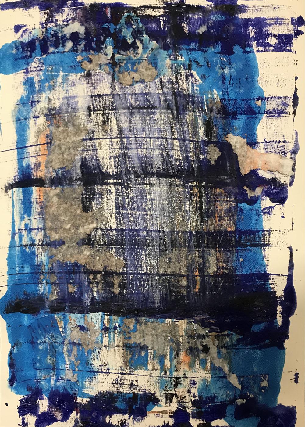 MARC FELD 2021 PONTON Gouache sur papier 30 x 42 cm
