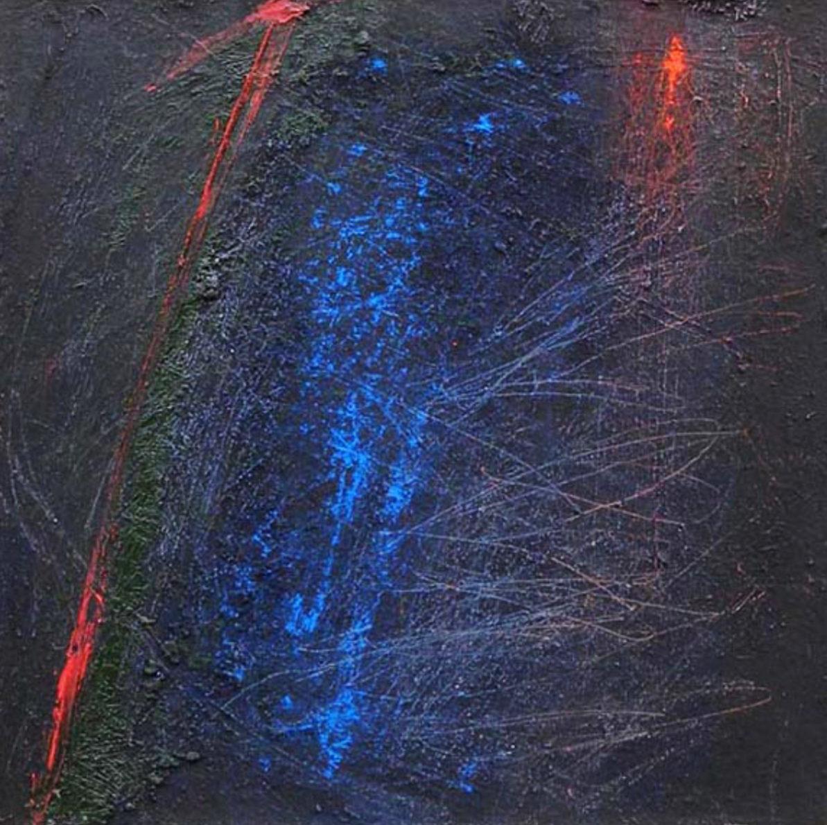 MARC FELD 2013 ESPACE D'ESPÈCE Huile et pigment sur toile 50 x 50 cm