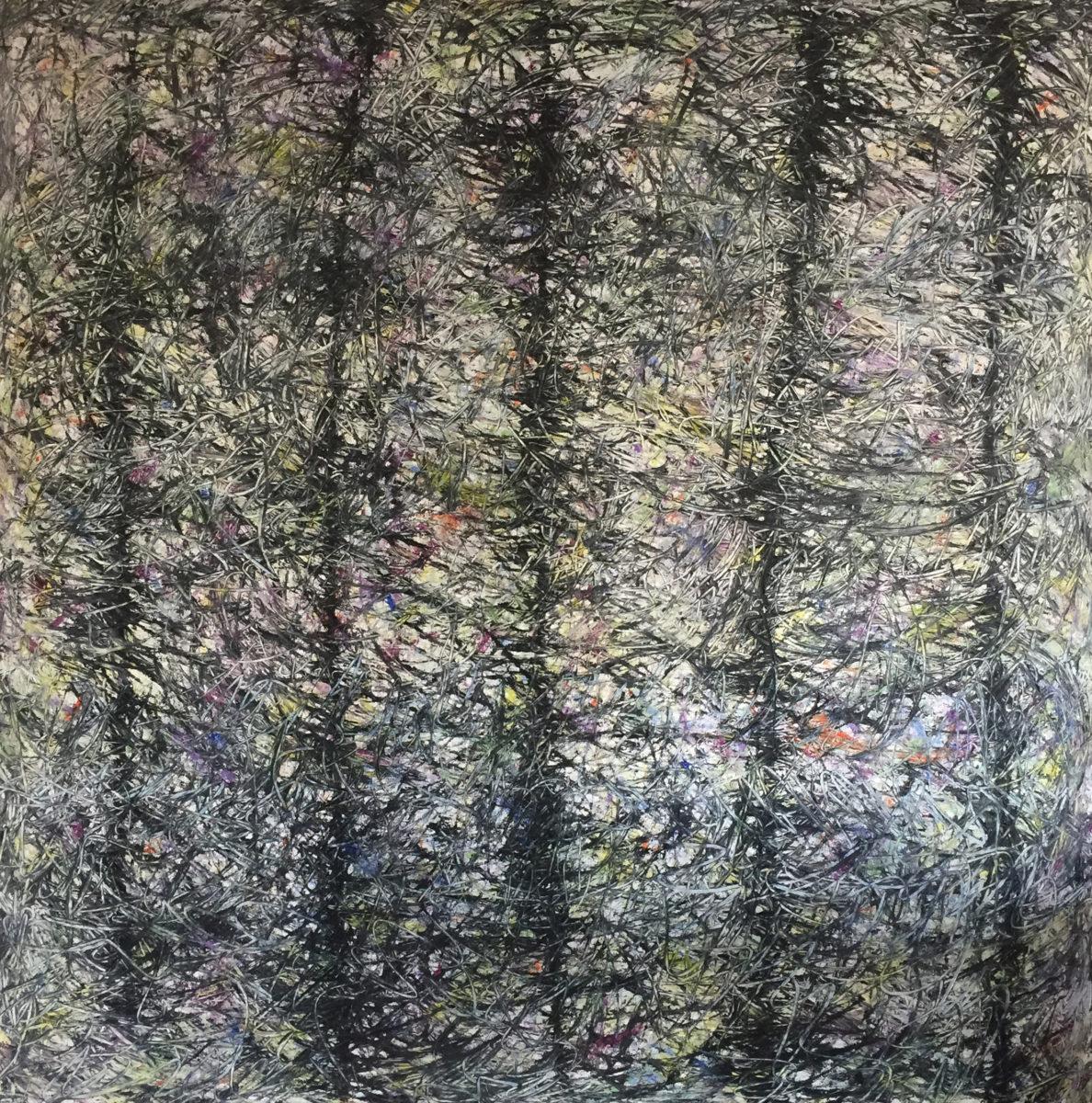 MARC FELD 2015 TEMPÊTE Huile et acrylique sur toile 160 x 160 cm