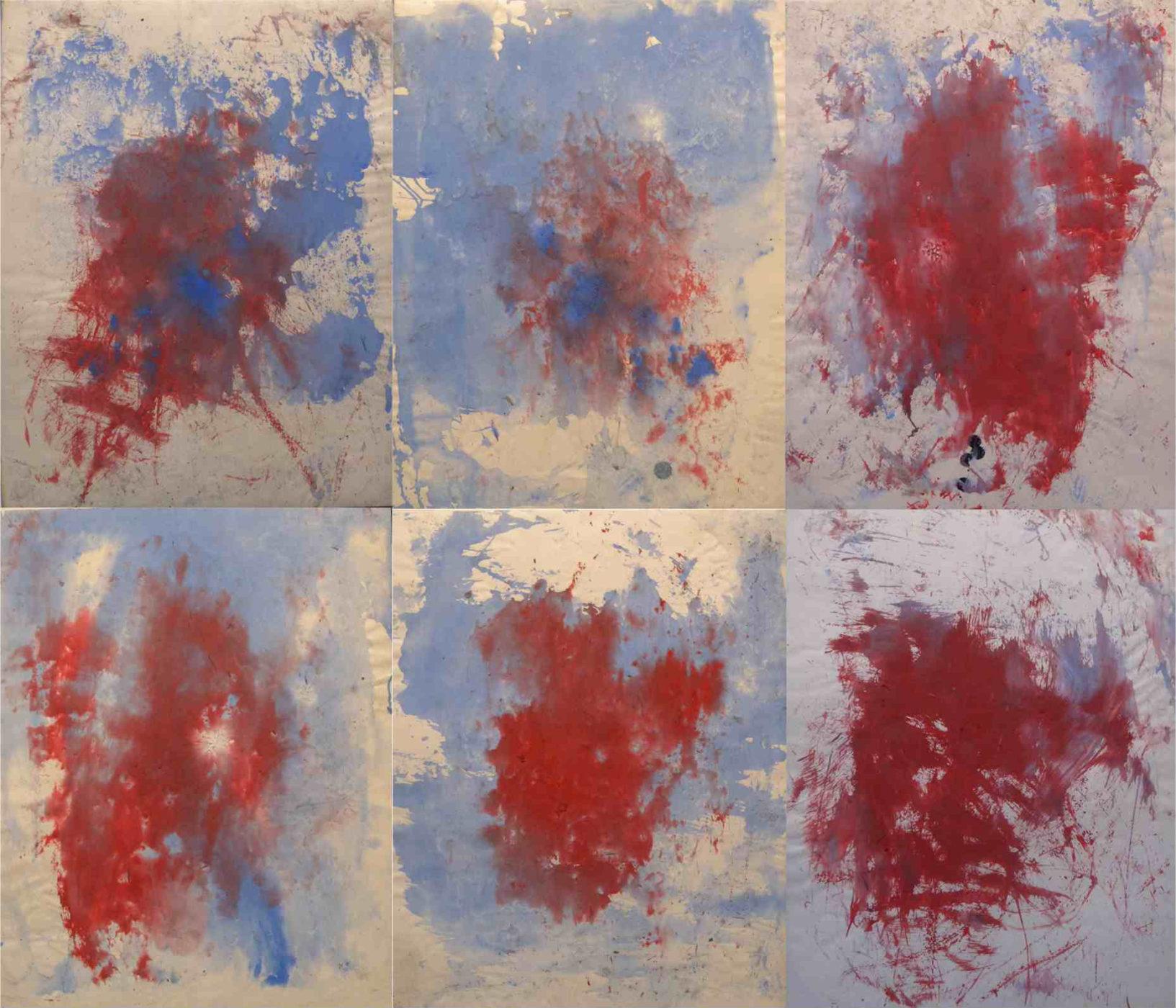 MARC FELD 2016 VENTS Huile et acrylique sur papier marouflé sur toile 150 x 130 cm