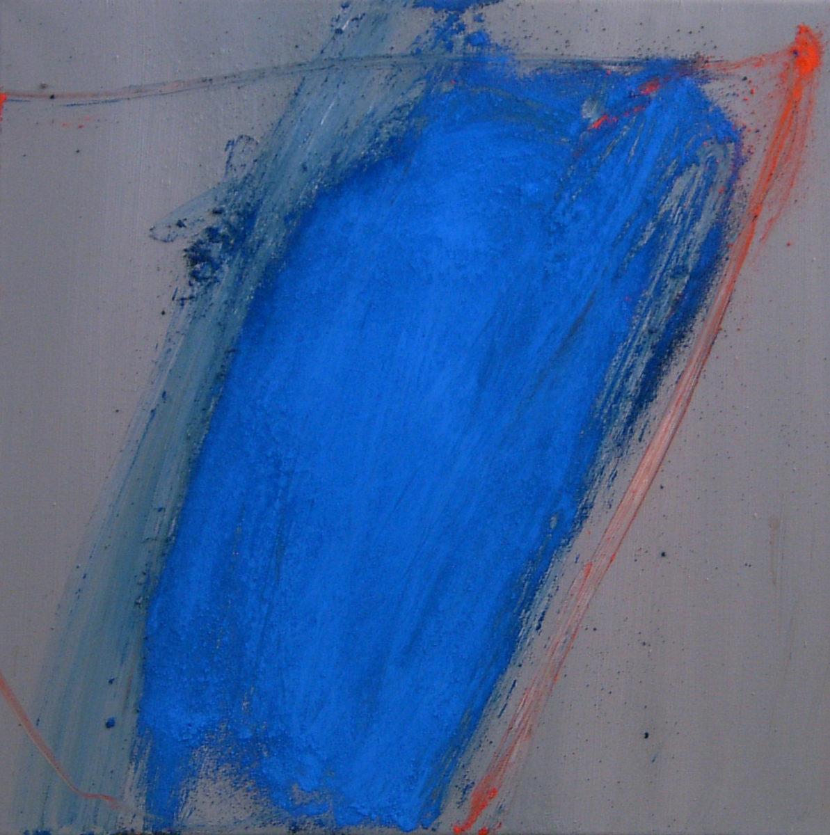 MARC FELD 2004 SENTIER Huile et pigment sur toile 50 x 50 cm