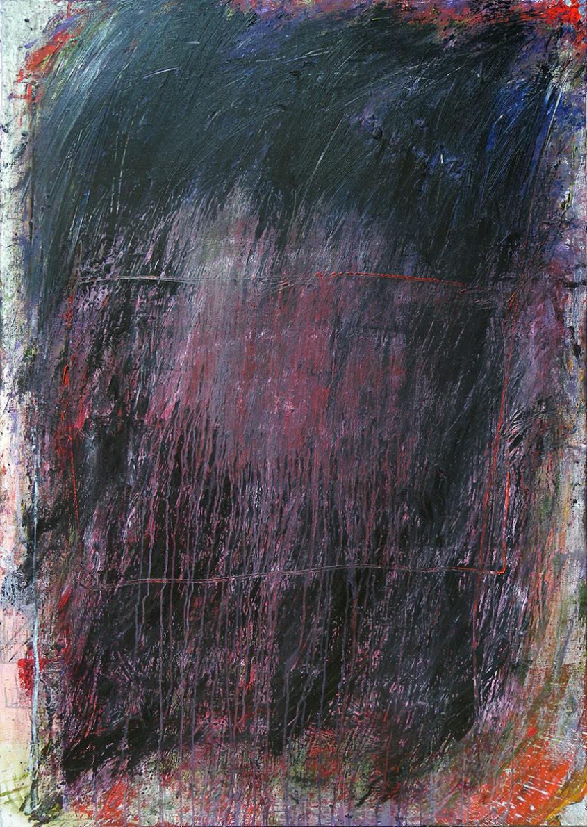 MARC FELD 2012 CAVERNE Huile sur toile 140 x 210 cm