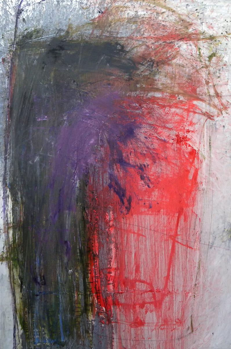 MARC FELD 2012 LAVE  Huile et mine de plomb  sur toile 140 x 210 cm