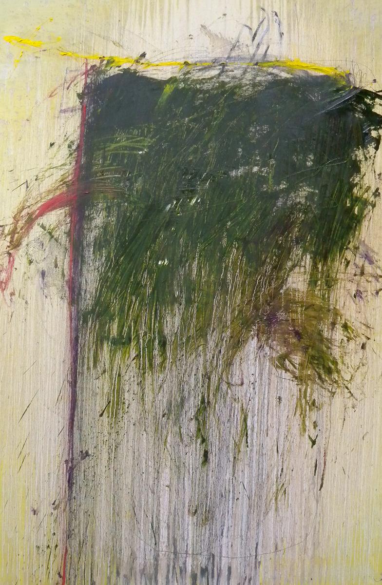 MARC FELD 2012 SCRIBE  Huile et mine de plomb sur toile 140 x 210 cm